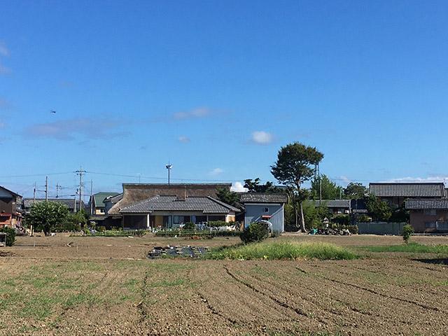 集落の茅葺き屋根