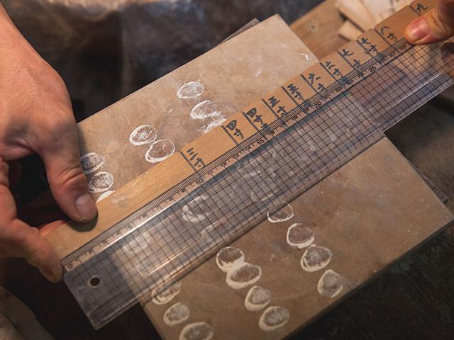 器を作るときに大きさを測るもの