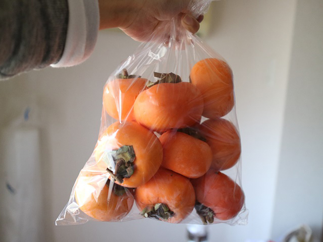 初!干し柿作り!!!