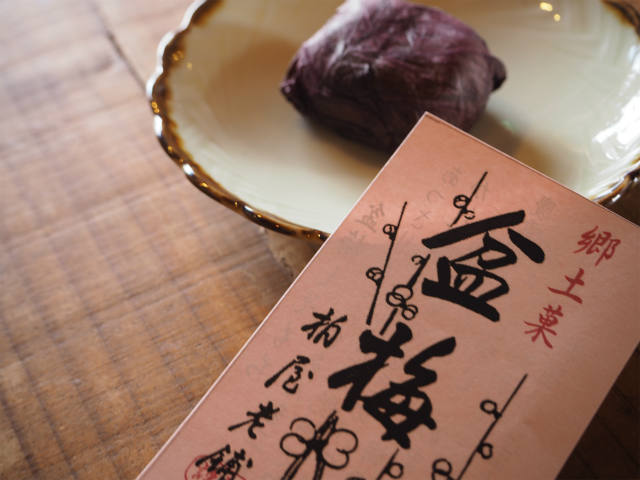 【湖北銘菓帖】Vol.10 # 盆梅しそもち/長浜盆梅展