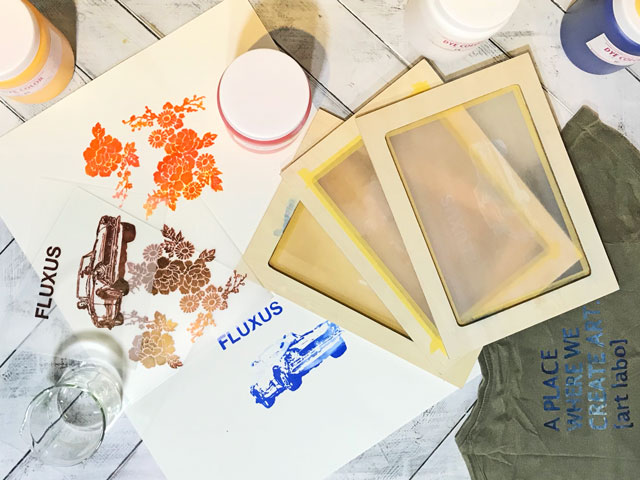 WORK SHOP / 自然光で焼付けするシルクスクリーン体験